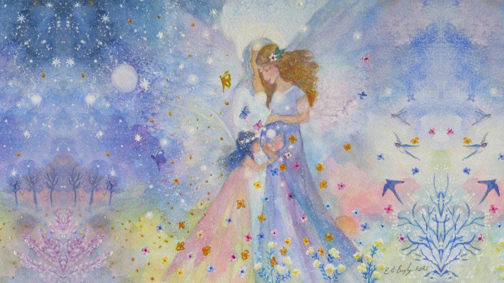 Aquarelle Elaine Bayley Illustrations page Naître Candice Braas